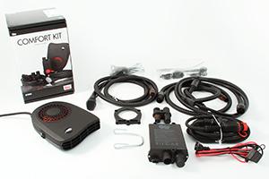 comfort kit, kupévärmare, batteriladdare, kabel, Calix